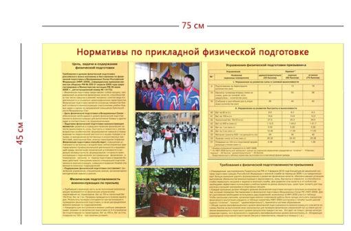 Стенд «Нормативы по прикладной физической подготовке» (1 плакат)