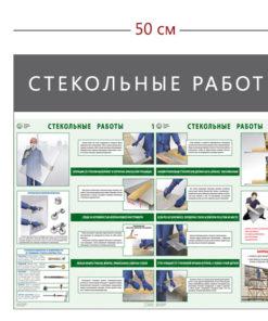 Стенд «Стекольные работы» (2 плаката)