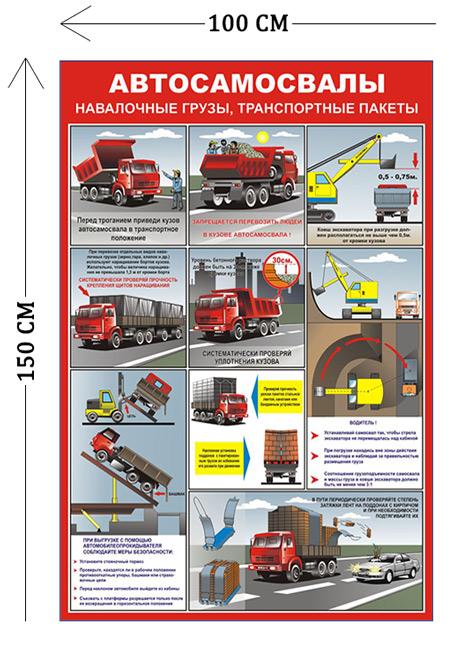 Стенд Автосамосвалы 150х100см (9 плакатов)