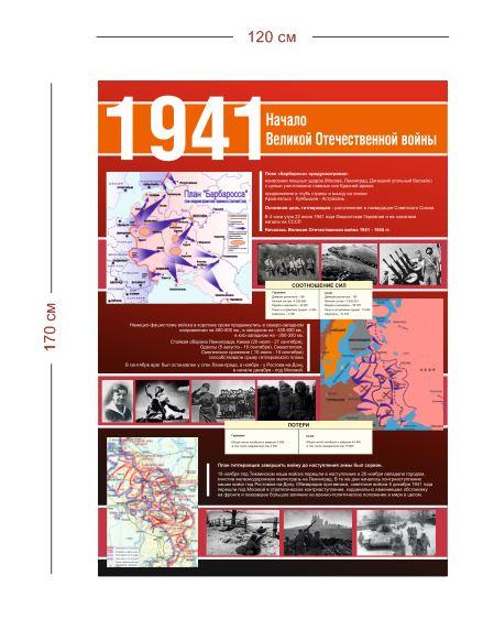 Стенд Великая Отечественная война 1941 г. 120х170 см