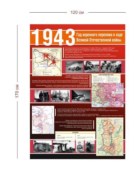 Стенд Великая Отечественная война 1943 г. 120х170 см