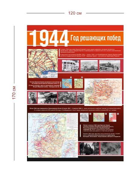 Стенд Великая Отечественная война 1944 г. 120х170 см