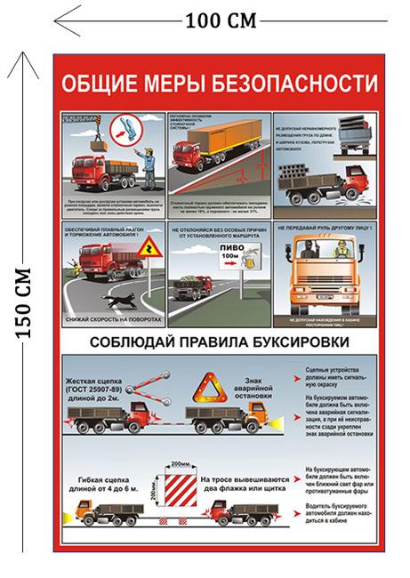 Стенд Общие меры безопасности 150х100см (7 плакатов)