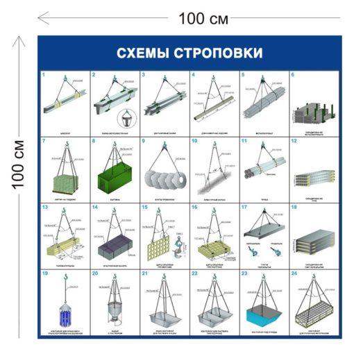 Схемы строповки грузов ССГ05 (цветная)