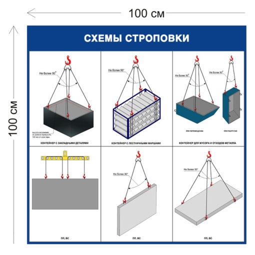 Схемы строповки контейнеров ССГ07