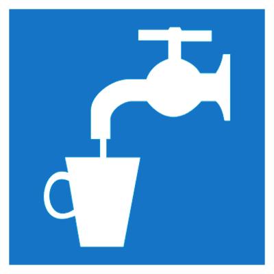 Указательный знак Питьевая вода (D 02)