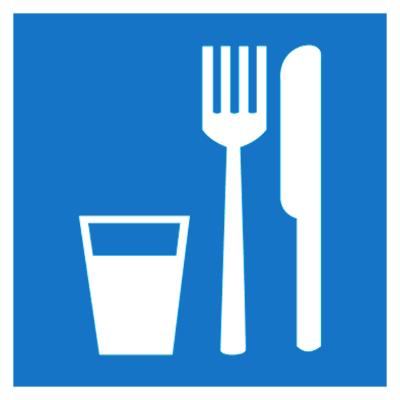 Указательный знак Пункт приема пищи (D 01)