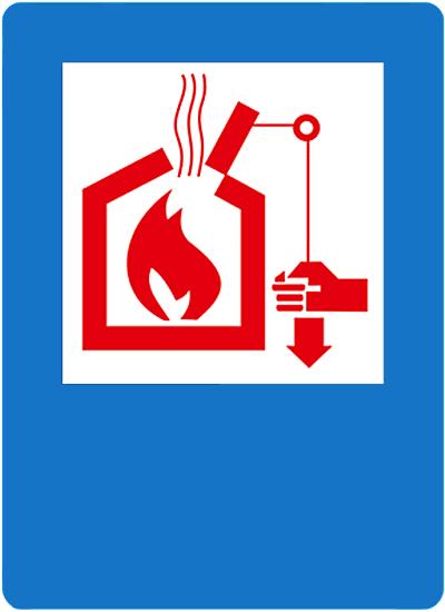 Указательный знак Управление системами тепло- и дымоудаления