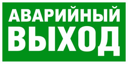 Эвакуационный знак Аварийный выход (Е 23)