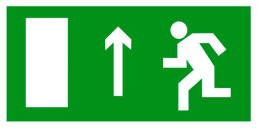 Эвакуационный знак Направление к эвакуационному выходу прямо левосторонний (E 12)