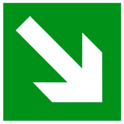 Эвакуационный знак Направляющая стрелка под углом 45° (E 02-02)