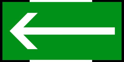 Эвакуационный знак Направляющая стрелка (прямоугольная)