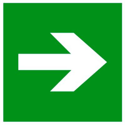 Эвакуационный знак Направляющая стрелка (E 02-01)