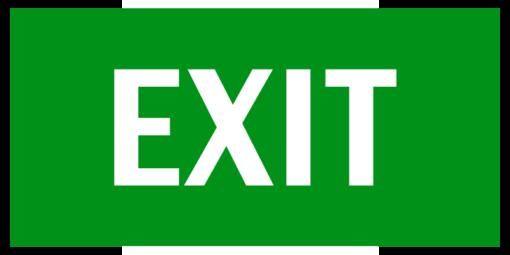 Эвакуационный знак Указатель выхода (EXIT)
