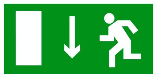 Эвакуационный знак Указатель двери эвакуационного выхода левосторонний (E 10)