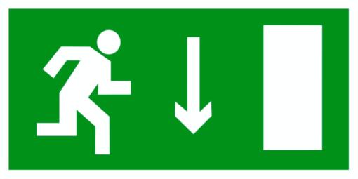 Эвакуационный знак Указатель двери эвакуационного выхода правосторонний (E 09)